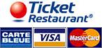 Moyens de payement : Espèce, ticket restaurant, carte bleu