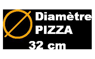 Diamètre de 32 cm des Pizza