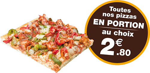 Prix portion de pizza